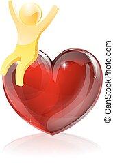 Heart man concept