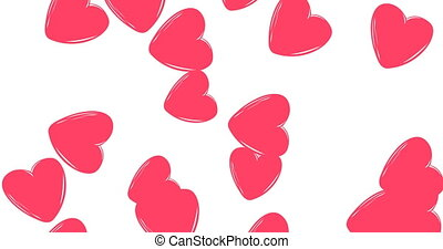 heart, many hearts . heart pink on white backdrop Background...