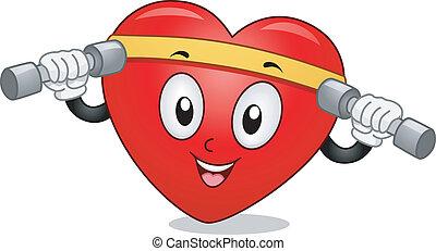 Heart Mascot Exercise