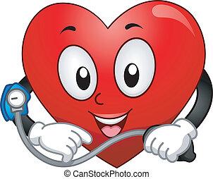 Heart Mascot - Mascot Illustration Featuring a Heart Taking...