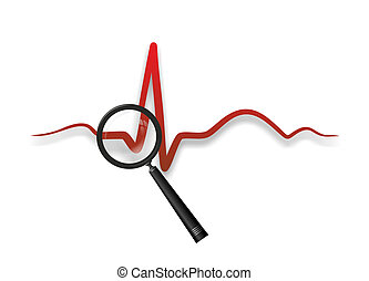 heart medicine - abstract illustration of a heartbeat from...