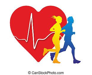 heart medicine - schematic illustration of the relation...