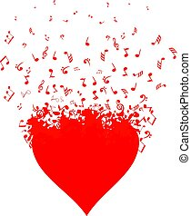 Heart Music - musical heart with notes