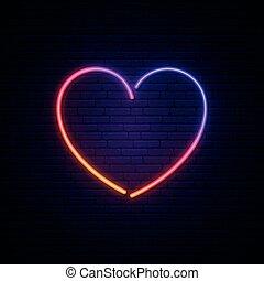 Heart neon sign.