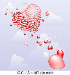 Heart of balloons