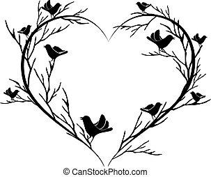 heart of birds