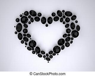 Heart of Black Diamonds - The Three-dimensional Black...
