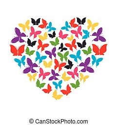 heart of butterflies love