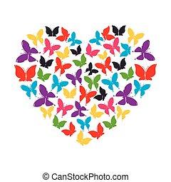 heart of butterflies love