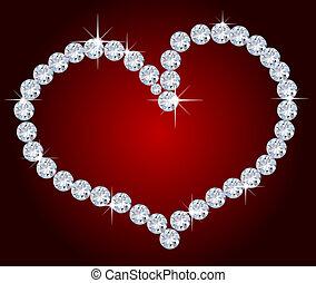Heart of diamonds