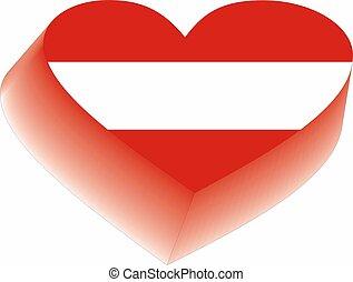 heart of flag Austria