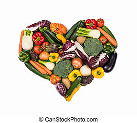 Heart of fresh vegetables