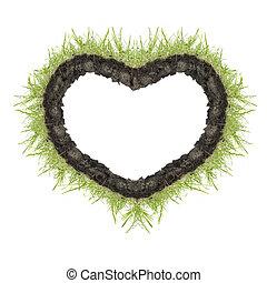 heart of green grass
