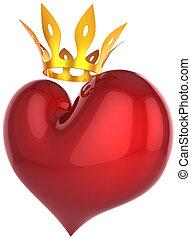 Heart of king. Premium Love concept