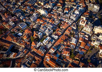 Heart of Limassol, Cyprus, top down view