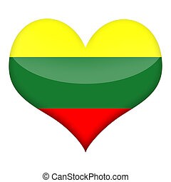 Heart of Lithuania - Lithuanian flag styled heart isolated ...