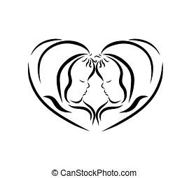 Heart of newborn babies, happiness