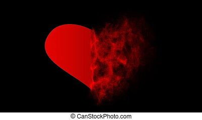 Heart of particles.