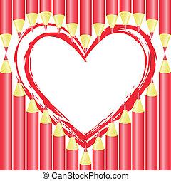 Heart of pencils