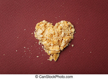 Heart of pieces with crackers