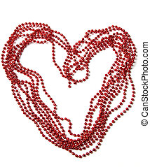 Heart of red beads