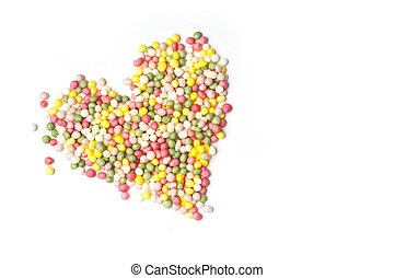 Heart of sprinkles - A heart of cake decoration