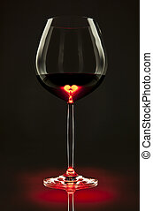 Heart of the wine - Glass of red wine with a heart inside
