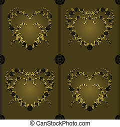 Heart of vines tile