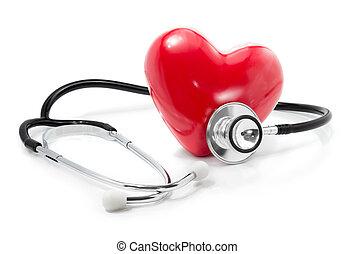 heart:, omsorg, hälsa, din, lyssna