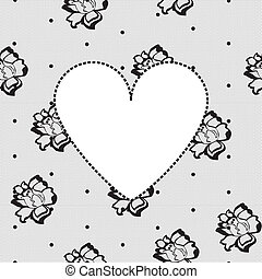 heart on a background floral lace