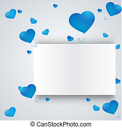 heart on a paper background