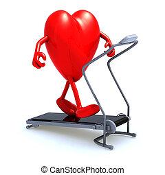 heart on a running machine