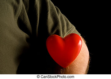 Heart on a Sleeve - A person wearing their heart on their ...