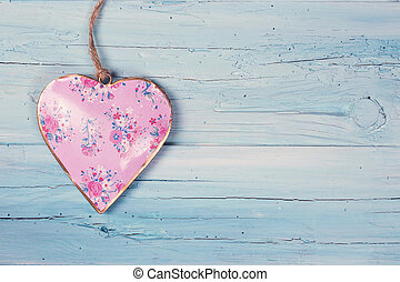 Heart on a wooden background