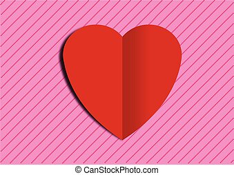 HEART ON BACKGROUND
