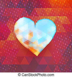 Heart on colorful triangles. EPS 10