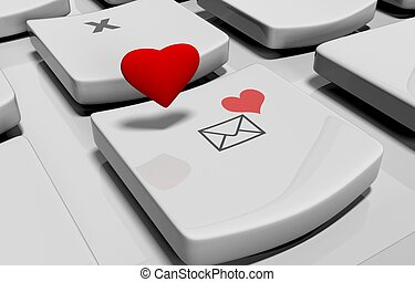 Heart on computer keyboard