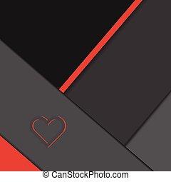 heart on dark background illustration