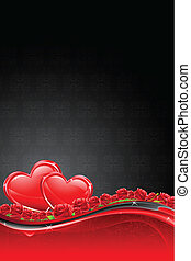 Heart on Floral Background