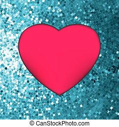 Heart on glitter light Valentine's day. EPS 8