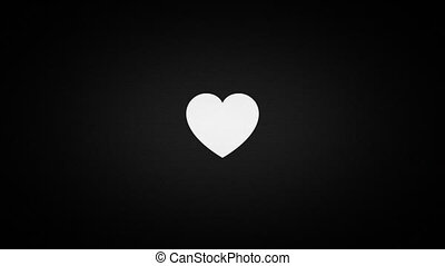 heart on old tv screen, valentines day - heart on old tv...