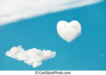 heart on sky