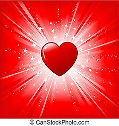 Heart on starburst