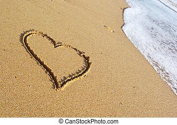 Heart on the beach