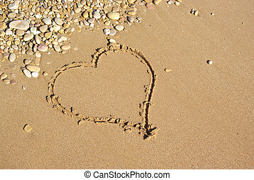 Heart on the beach.