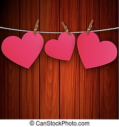 heart on the clothespin on the back