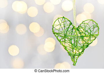 heart on the white background
