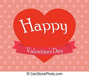 Heart on Valentine s Day vector