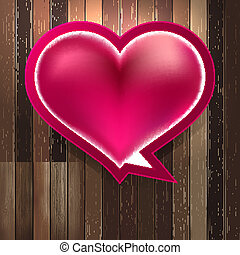 Heart on wood background. + EPS8