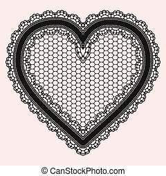 heart., openwork, invitations, luxueux, doux, conception, ...